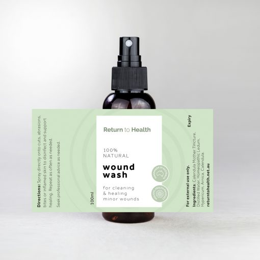 wound wash natural antiseptic for skin