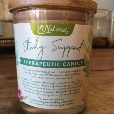 study support therapeutic candle